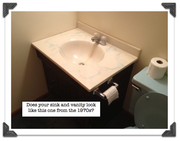 How To Replace A Bathroom Vanity Get From The 1970s Modern Time Lol