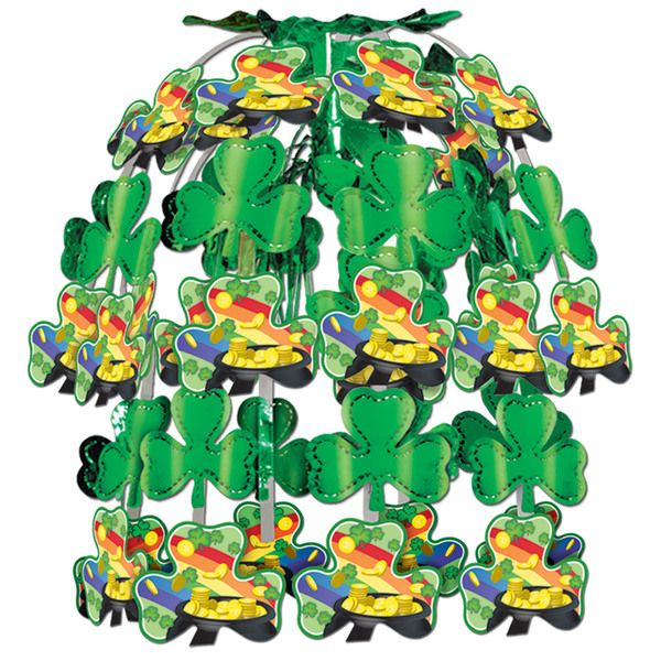 """St. Patrick's Day Cascade-Combination metallic and boardstock. Size: 24"""" 1 per package #decoration"""