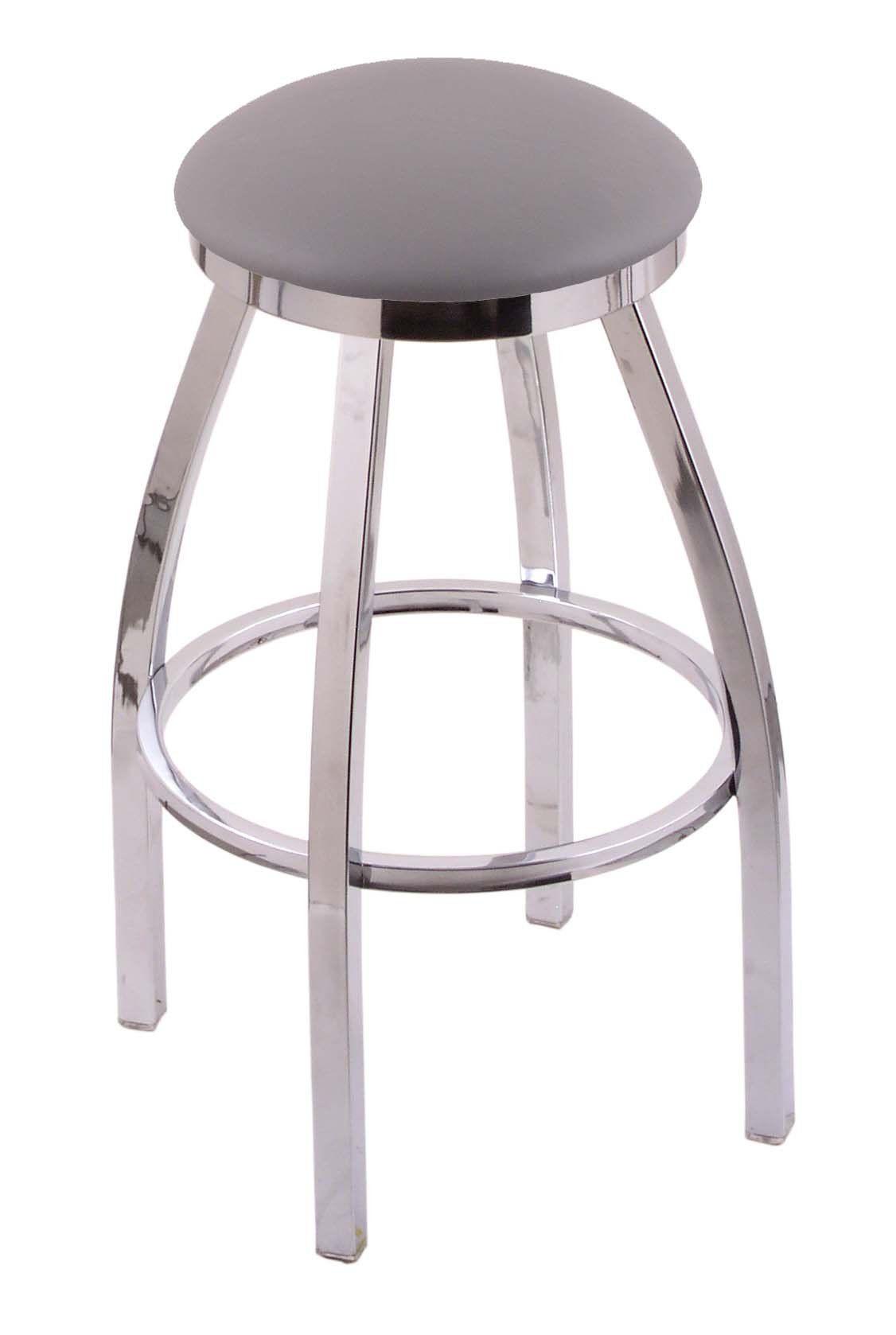 Holland Bar Stool Co 802 Misha 36 Extra Tall Bar Stool With Chrome Finish And Swivel Seat Allante Medium Grey Bar Stools Holland Bar Stool 30 Inch Bar Stools 36 seat height bar stools