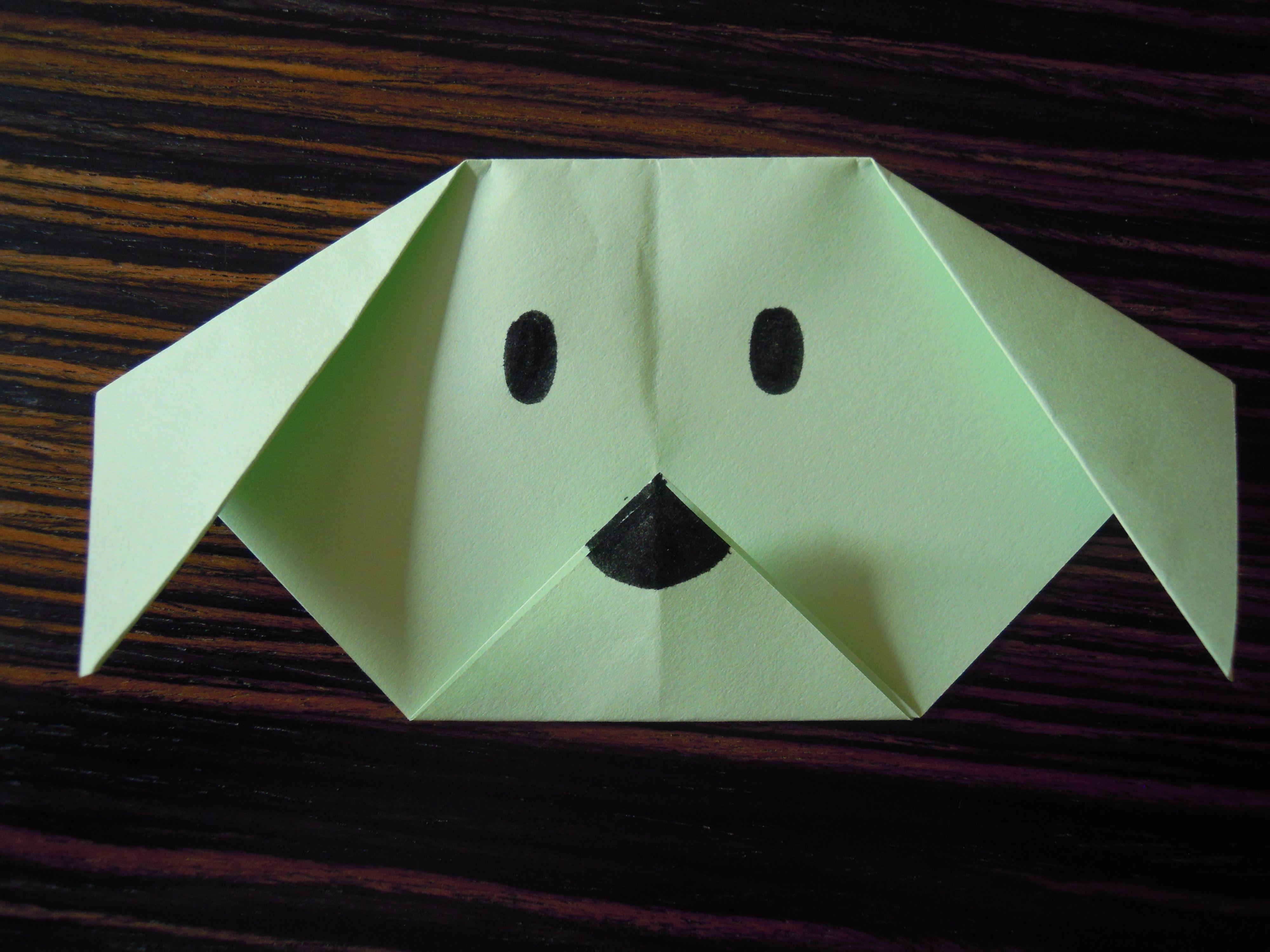 ORIGAMI CAGNOLINO: origami facile per bambini  http://creandosicrescecrescendosicrea.tumblr.com/post/29534009226/cagnolino-origami