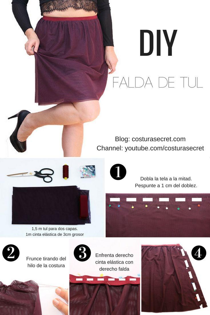 TULLE SKIRT TUTORIAL DIY   Falda de tul DIY TUTORIAL   DIY   SEWING ...