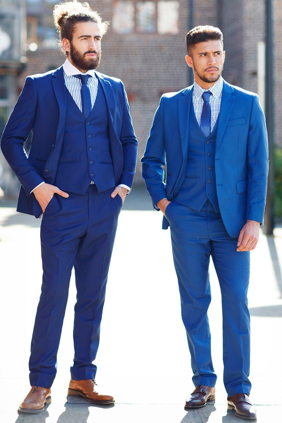 Mens Suit | Cobalt | Blue | Evening | Three Piece Suit | Marc Darcy ...