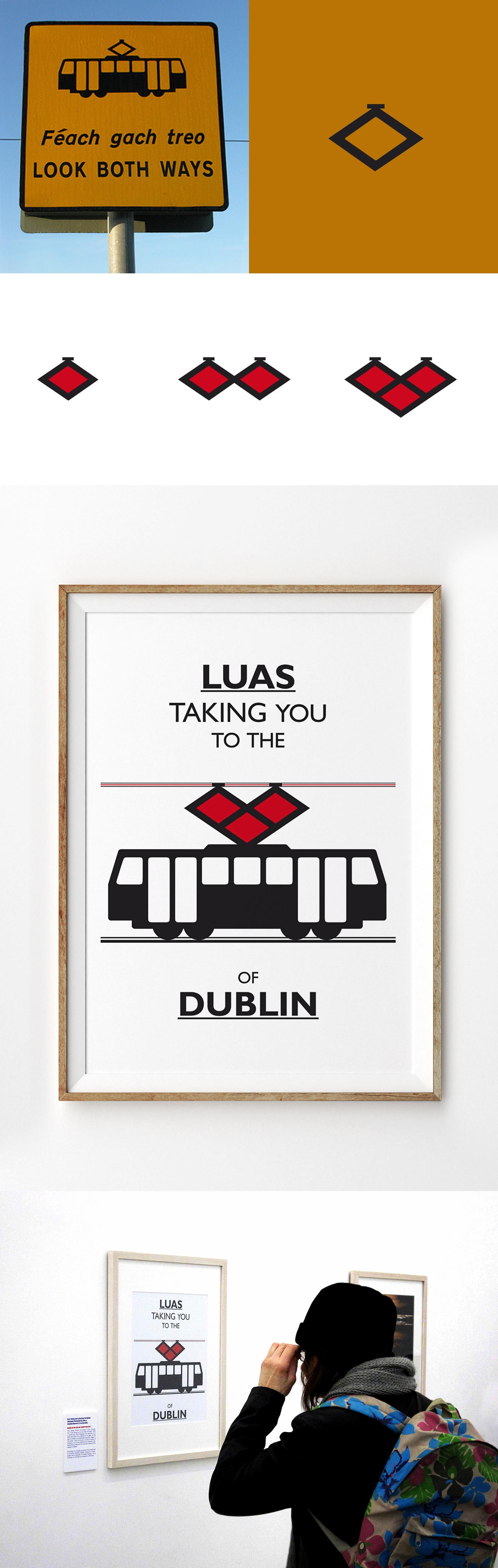 Poster design dublin - Luas Poster Dublin Irland Poster Design Graphic Design Jestudio