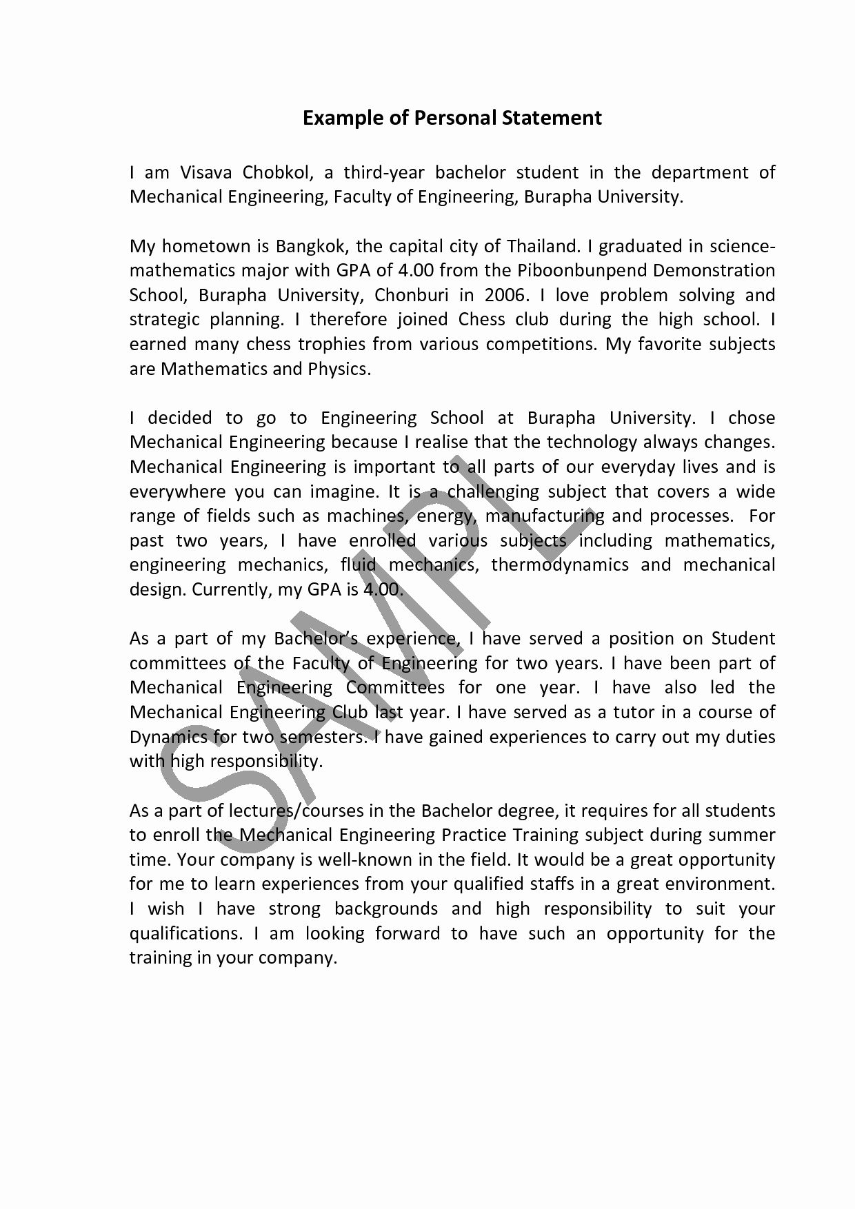 A Written Statement Luxury How To Write Your Personal Statement For University Personal Statement Examples Personal Statement Essay Examples
