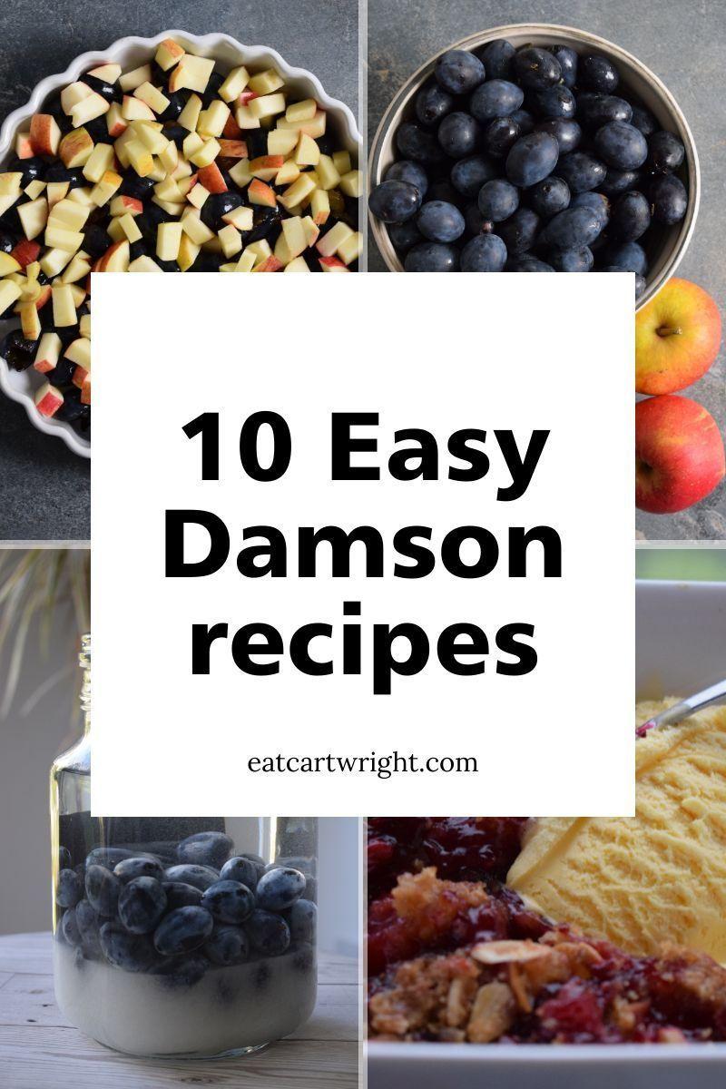 10 easy Gluten free Damson recipes EatCartwright in 2020