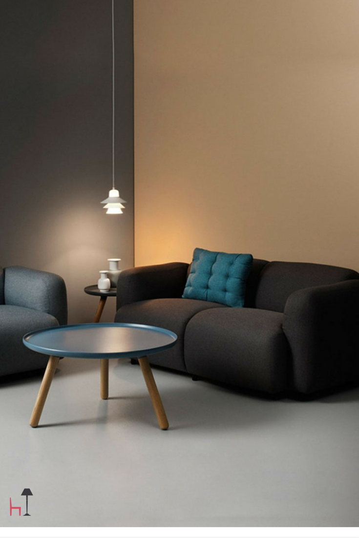 Swell by Normann Copenhagen is available as a two and three seat sofa as well as an armchair.