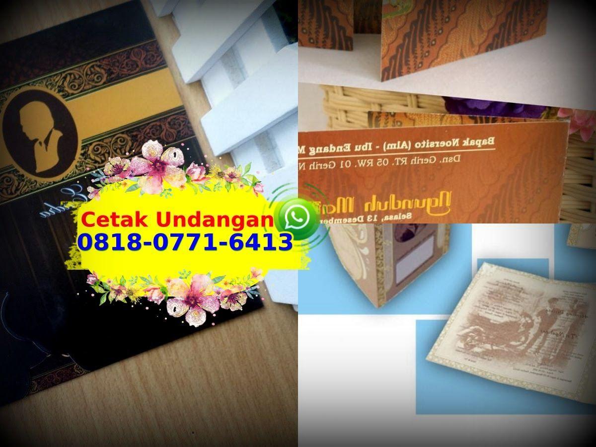 Desain Undangan Pernikahan Elegan Dan Mewah 0818 0771 6413 Whatsapp Book Cover