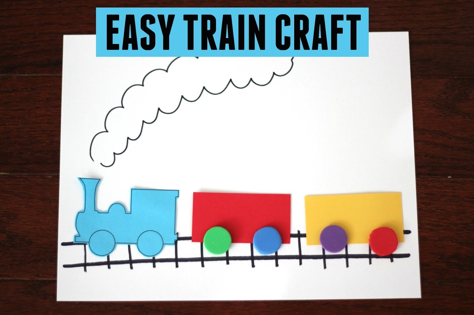 Easy Train Craft For Kids With Images