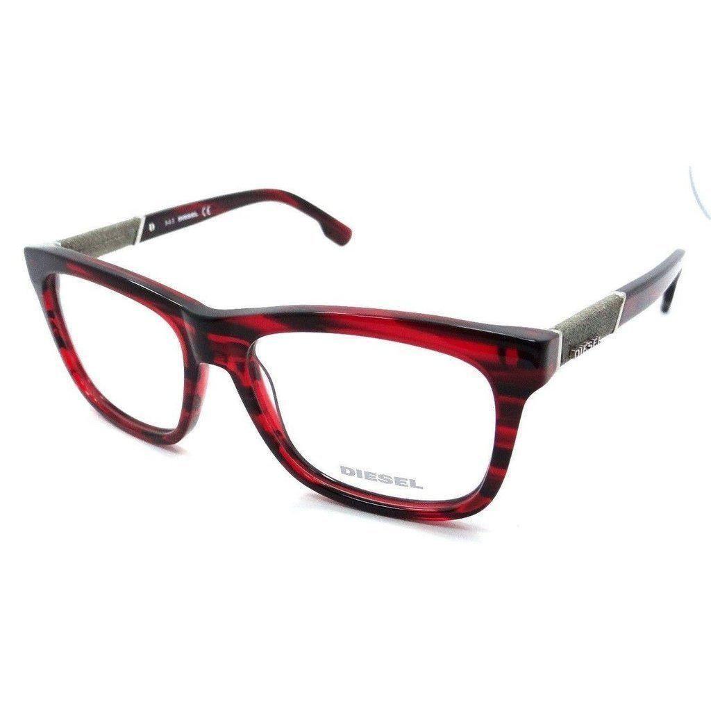 00ec5cd81e6b Diesel Rx Eyeglasses Frames DL5077 068 54-16-145 Red Striped   Grey Denim