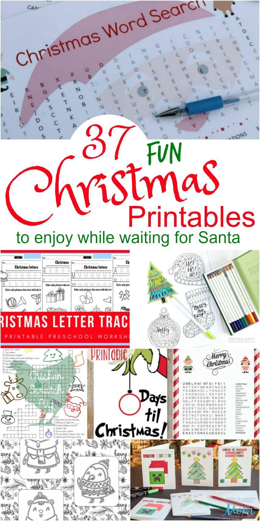 37 Fun Christmas Printables to Enjoy While Waiting for Santa ...