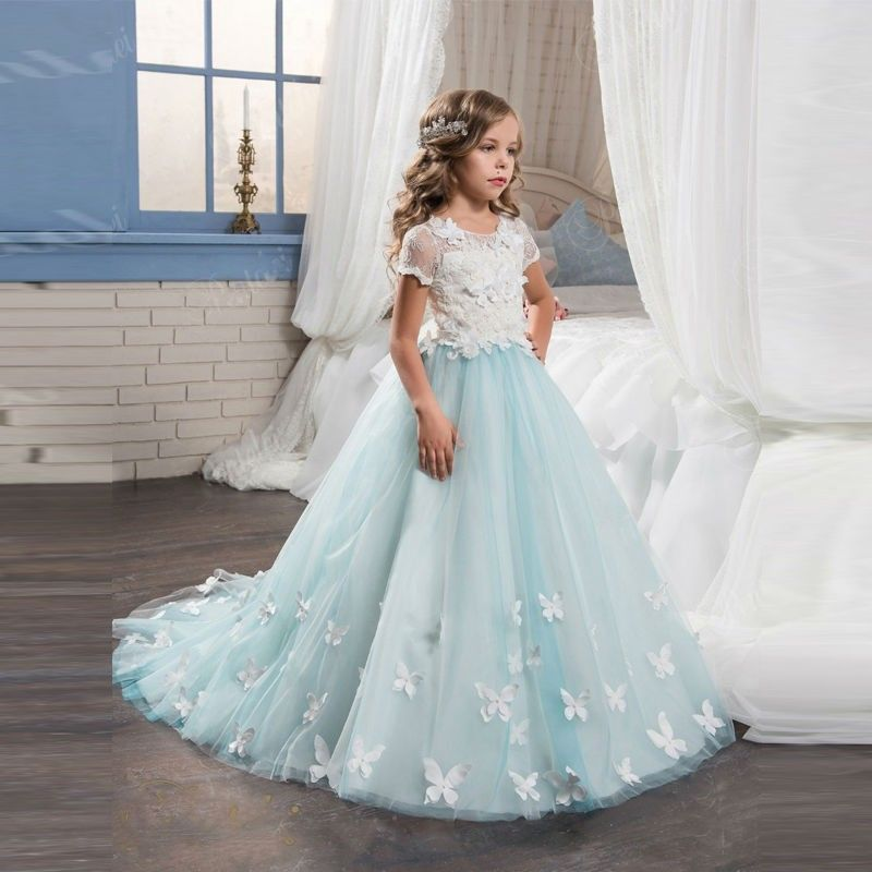 Princess Ball Gown Flower Girls Dresses For Wedding 2017 Cheap ...