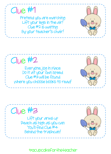 Freebie bunny hunt clues teaching ideas pinterest easter easter party negle Choice Image