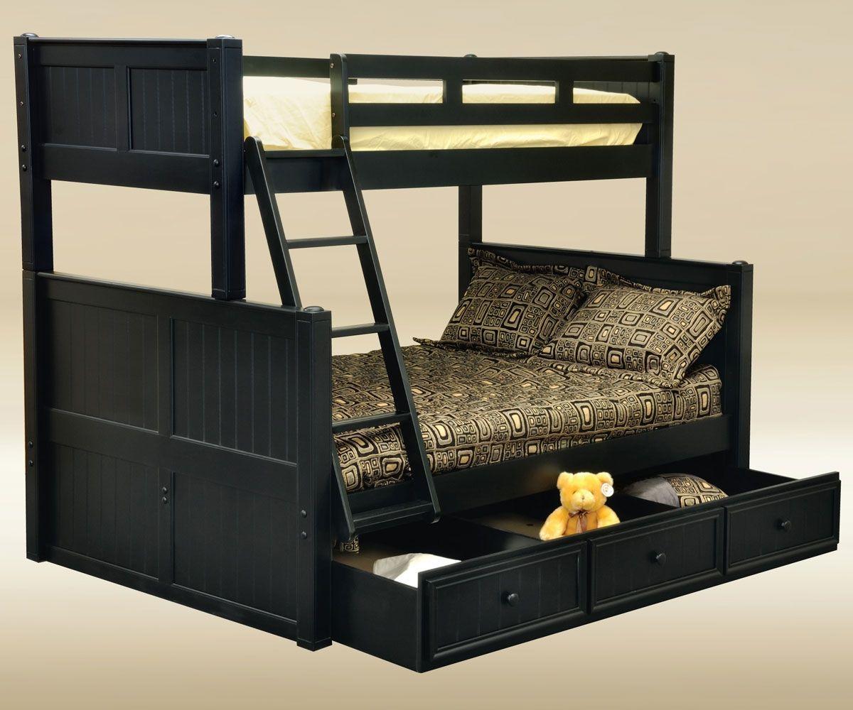Best Hampton Twin Over Full Bunk Bed Black Bunk Beds Good 400 x 300