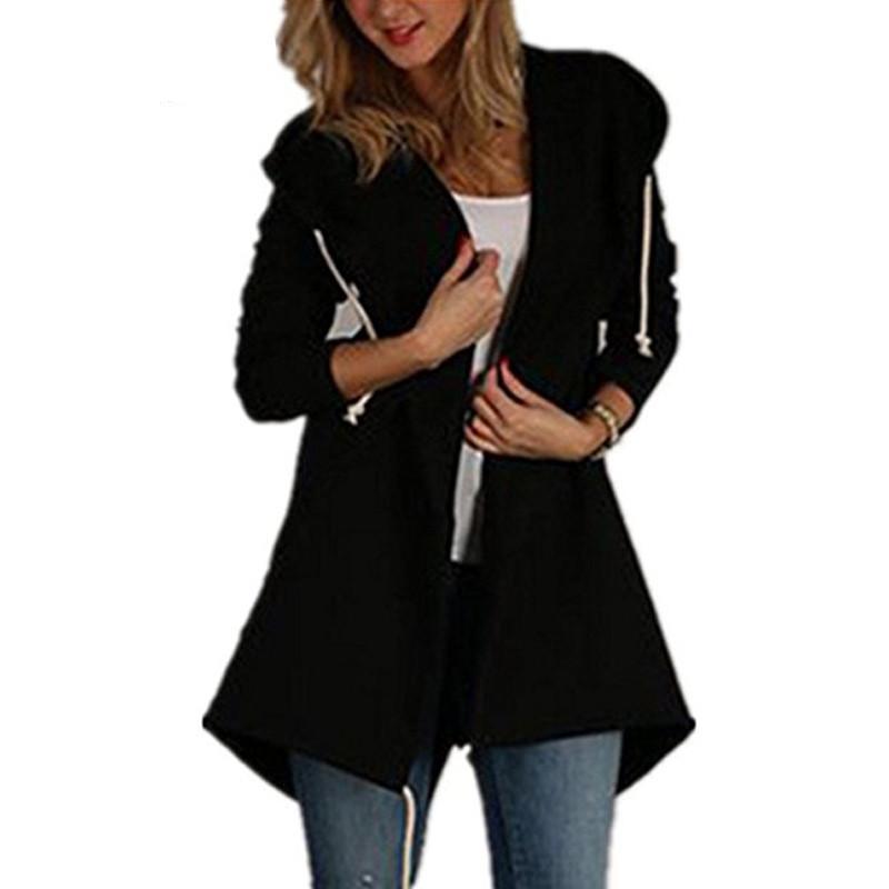 Autumn Fashion Zip-Up Hooded Coat Hoodie Sweatshirts Loose Jumper ... dcf683b91