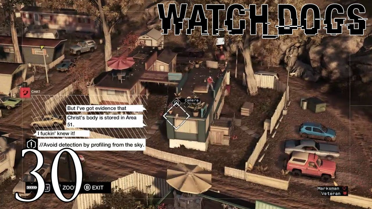 Watch Dogs Gameplay Walkthrough Part 30 - Area 51