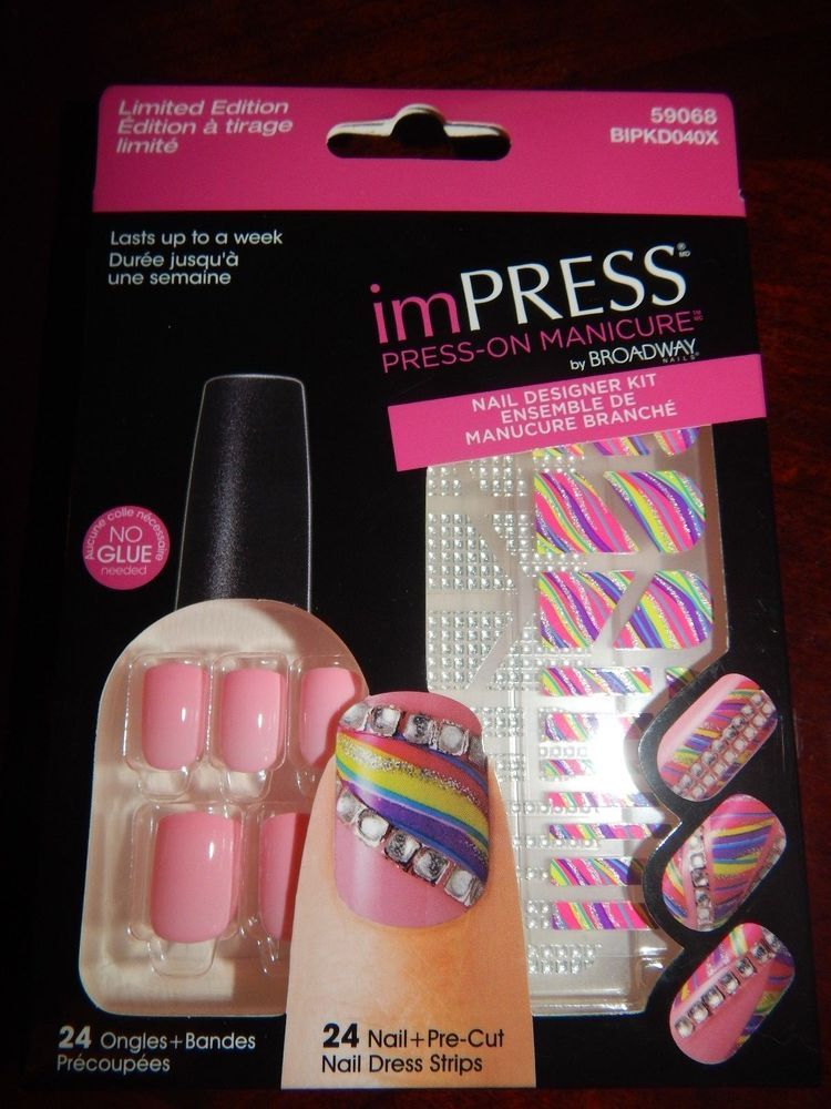 KISS Broadway imPRESS Nails, Press On Manicure Nail Designer Kit ...