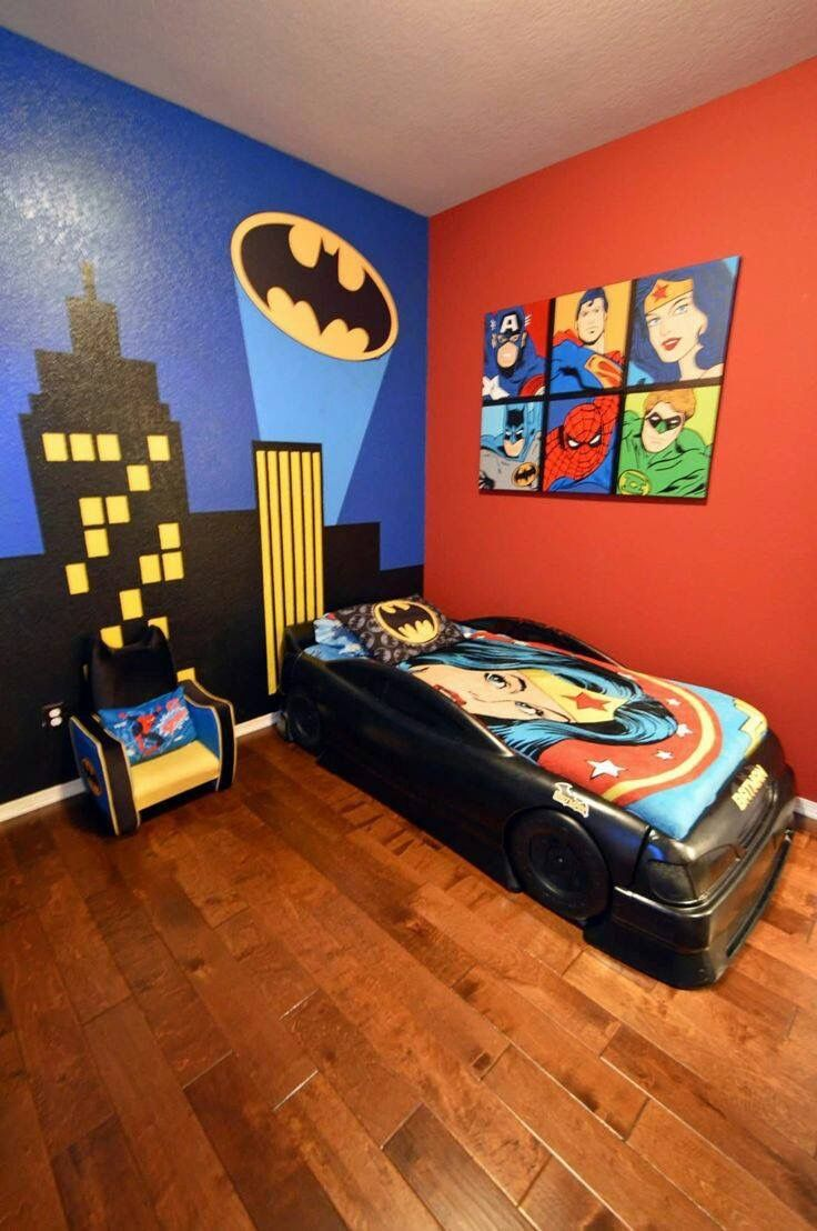 Batman bedroom Pin by Lisa M on
