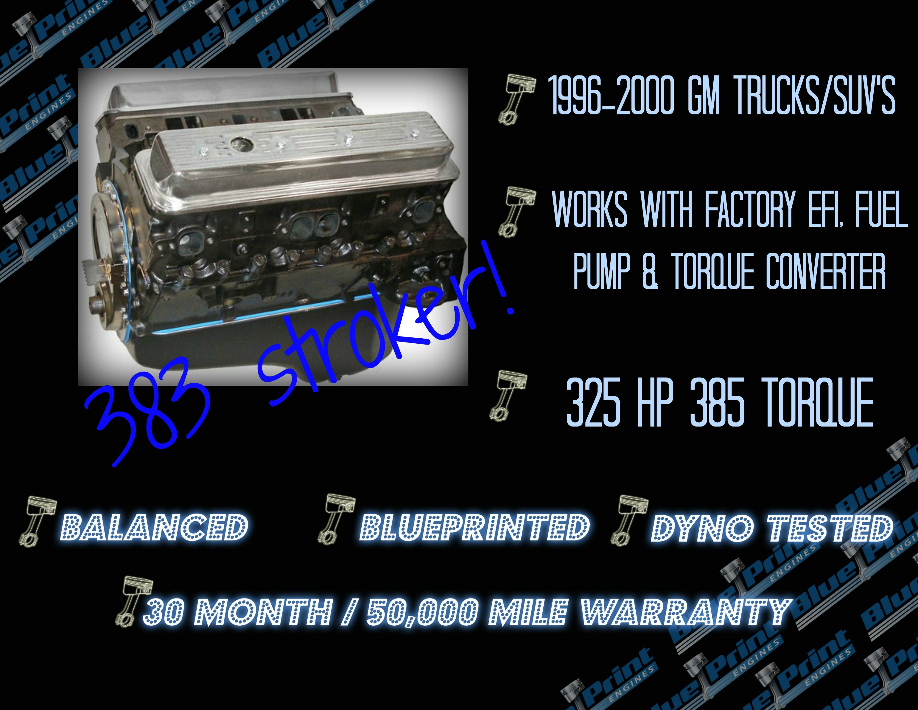 383ci stroker crate engine small block gm style longblock iron if your vortec powered gm truck or suv is getting tired or just needs more malvernweather Images