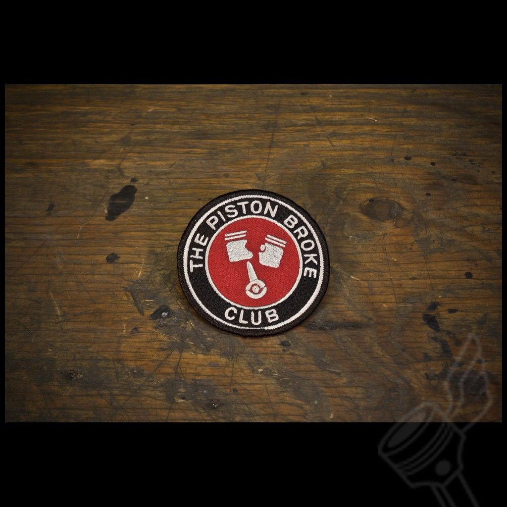 The Piston Broke Club Patch Motorcycle Patches Patches Vintage