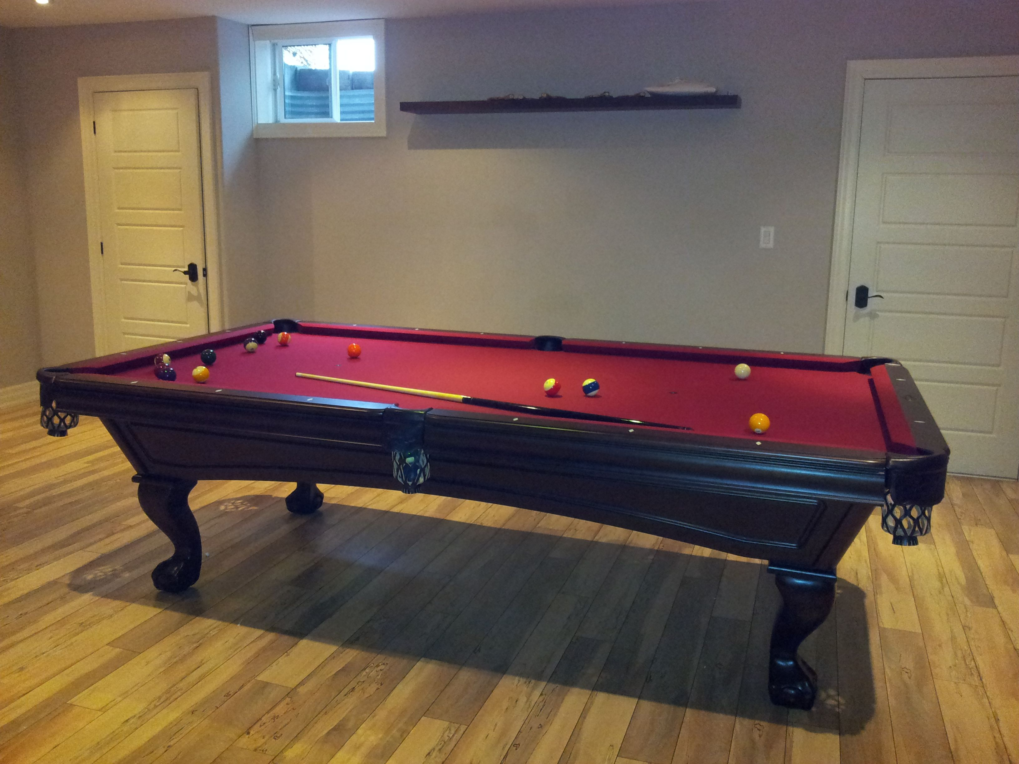 Brunswick Glenwood Slate Pool Table With A Mcintosh Centennial - 9 slate pool table