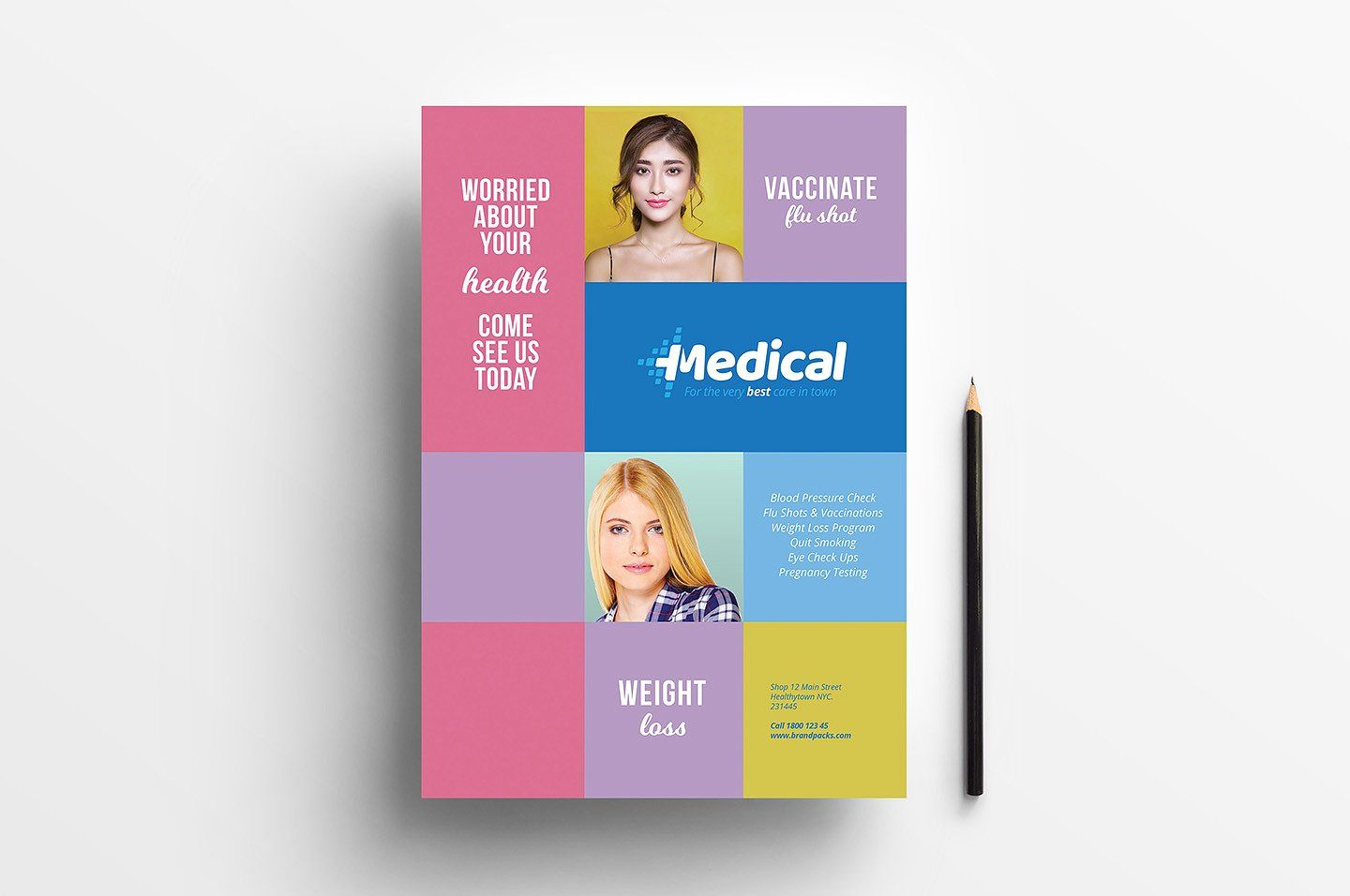 Modern Medical Templates Pack Medical Health Insurance