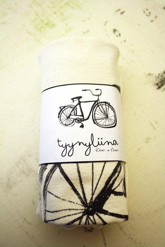 Bike pillow case by andyeatsonlycandy (Finnish etsy shop) $15