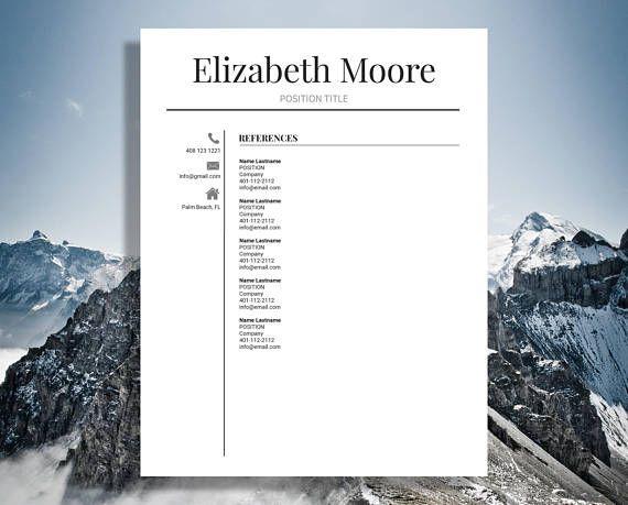 Resume Template Modern Resume Template Professional Resume