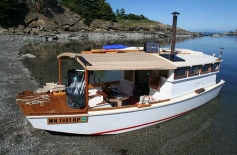 Garvey Houseboat Google Search Shanty Shanty Boat