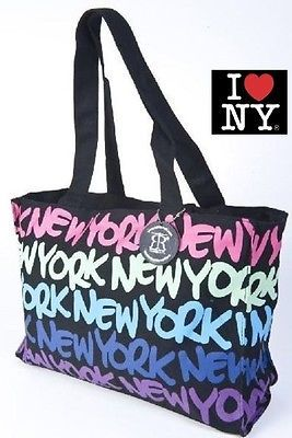 Robin Ruth Ny New York Neon Rainbow Colorful Designer Fashion Carry Tote Bag See Us On