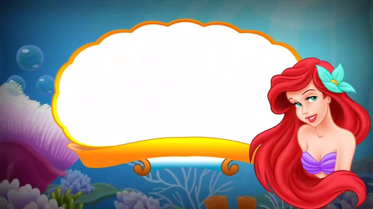 Convite Virtual Animado Tema A Pequena Sereia Gratis Para Baixar E