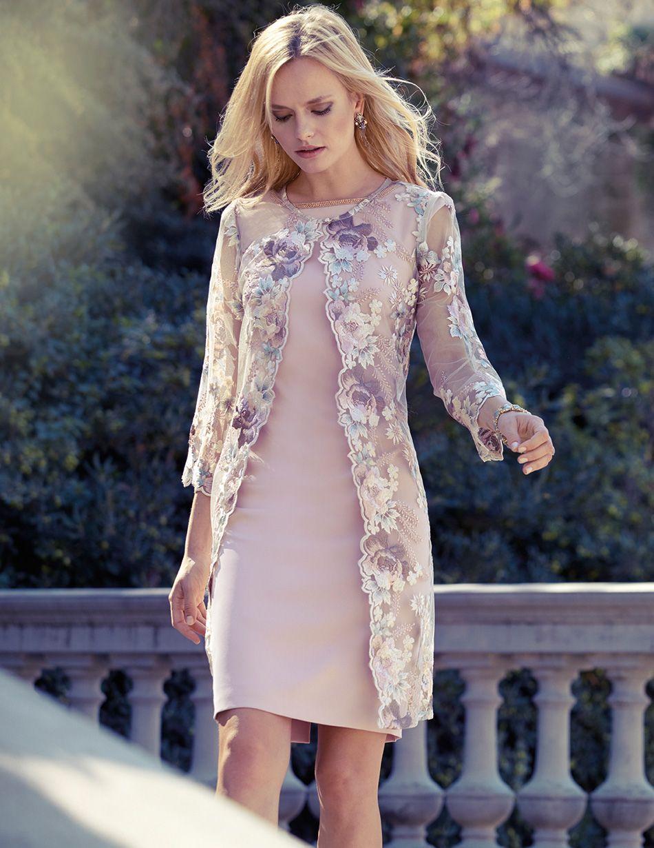 Evening wedding guest dresses  Carla Ruiz   LACE DRESS  Pinterest  Frocks Bride dresses