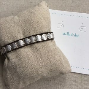 """I just added this to my closet on Poshmark: Signature Scallop and leather bracelet. Price: $22 Size: 8 1/2"""" total length"""