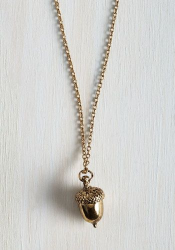 Oak-en of Gratitude Necklace, @ModCloth