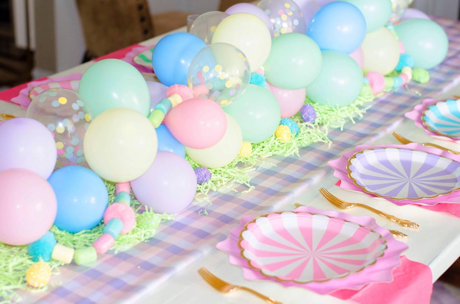 Easter Balloon Garland Pastel Mini Balloon Garland Kit
