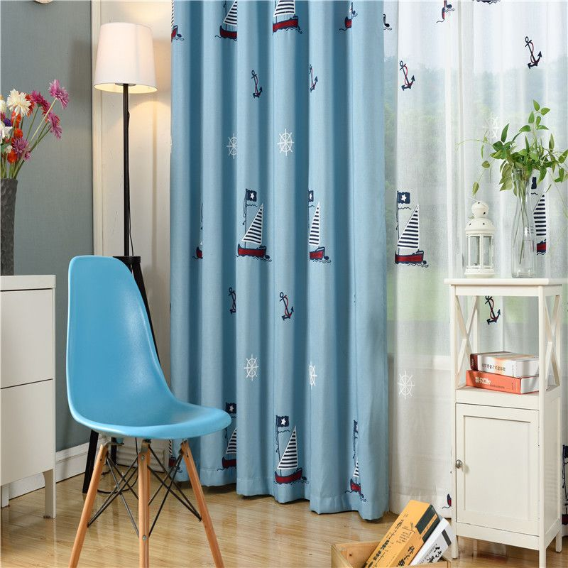 Byetee Children Curtains For Living Blackout Embroidered Curtains