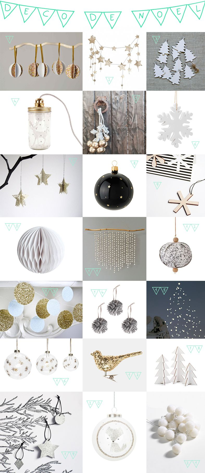 Selection Decoration Noel D Corations De No L 2015 Etsy Maisons Du