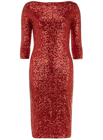 96e7901fd3 holiday sparkle much !!     red  sequin  dress