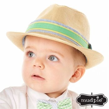 950d028253a Connor and Sean Mud Pie® Infant Boy Straw Fedora  VonMaur  MudPie  Hat