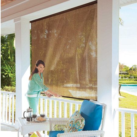 Ideal For Patio Enclosures, Sun Rooms, Or Outdoor Use, These Roll Up Solar  Shades Add Privacy But Let Cooling Breezes Through. The Weather Resistant  Window ...