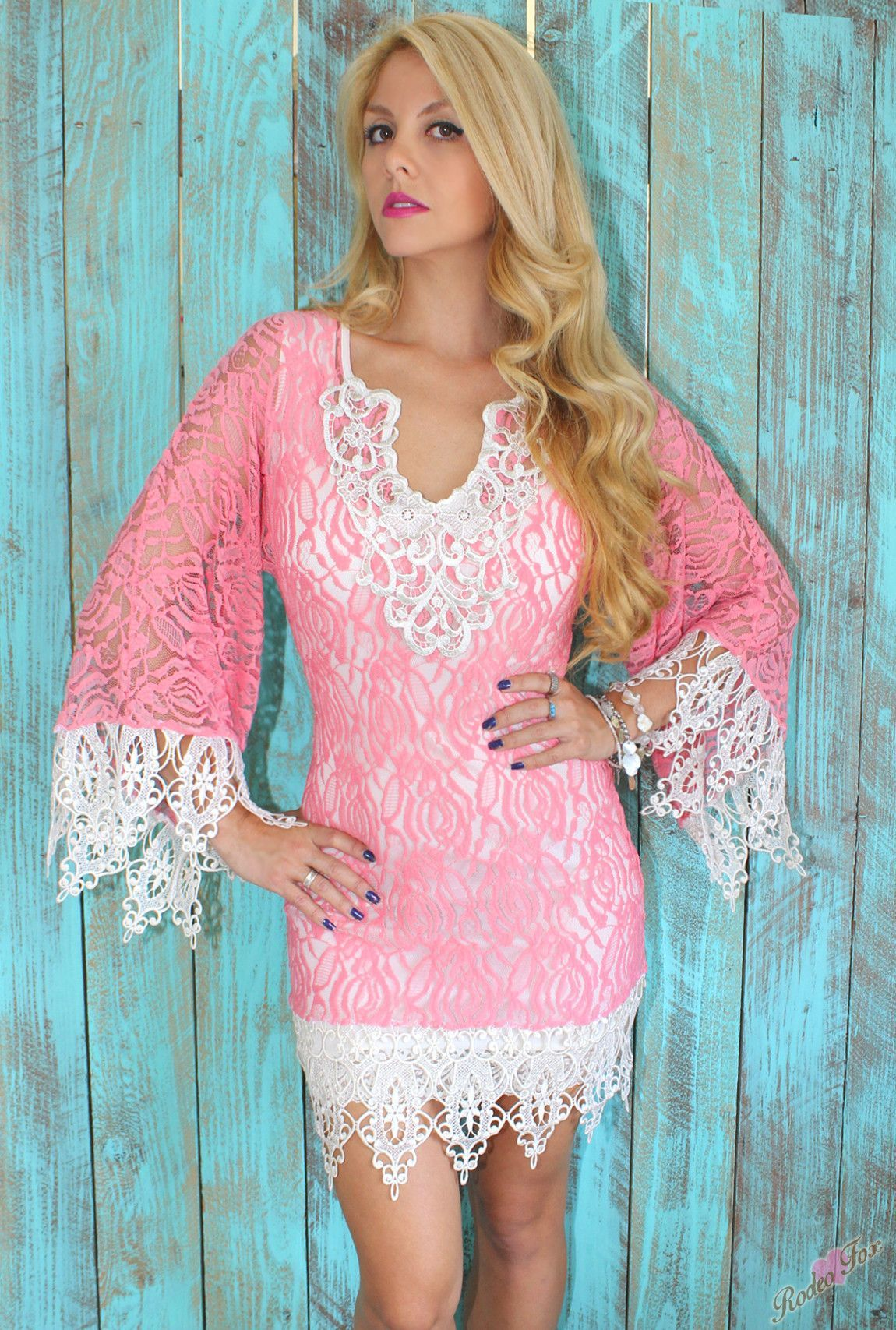 Pink Love Vintage Crochet Dress Rodeo Fox | Outfits, Ropa ...