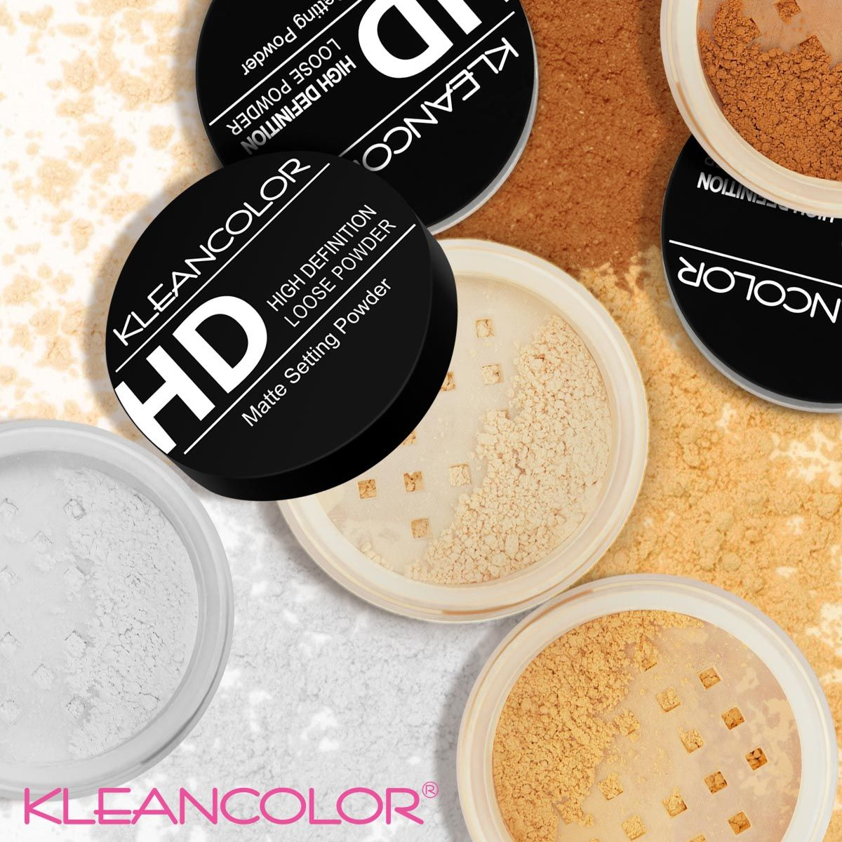 High Definition Matte Setting Loose Powder Kleancolor Loose Powder Translucent Powder Sheer Color