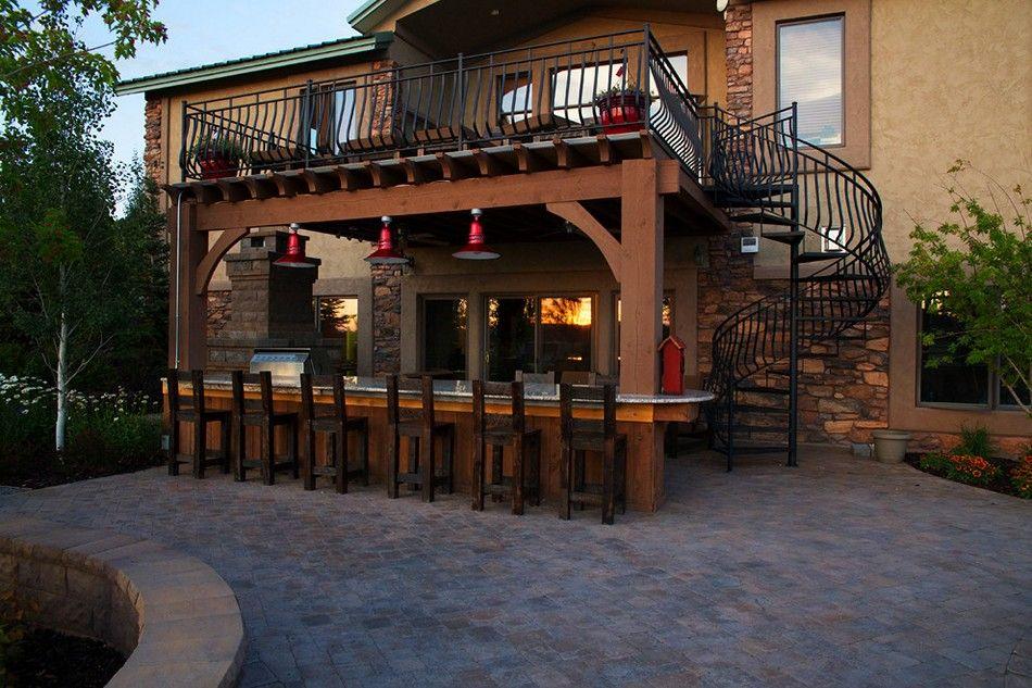 25 Outdoor Bar Ideas And Amazing Deck Design Ideas Rustic Outdoor Kitchens Outdoor Patio Bar Patio Under Decks