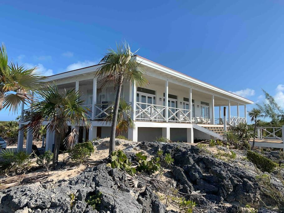New Beach Cottage Cottages For Rent In Little Exuma Island Bahamas Beach House Deck Beach Cottages Bahamas House