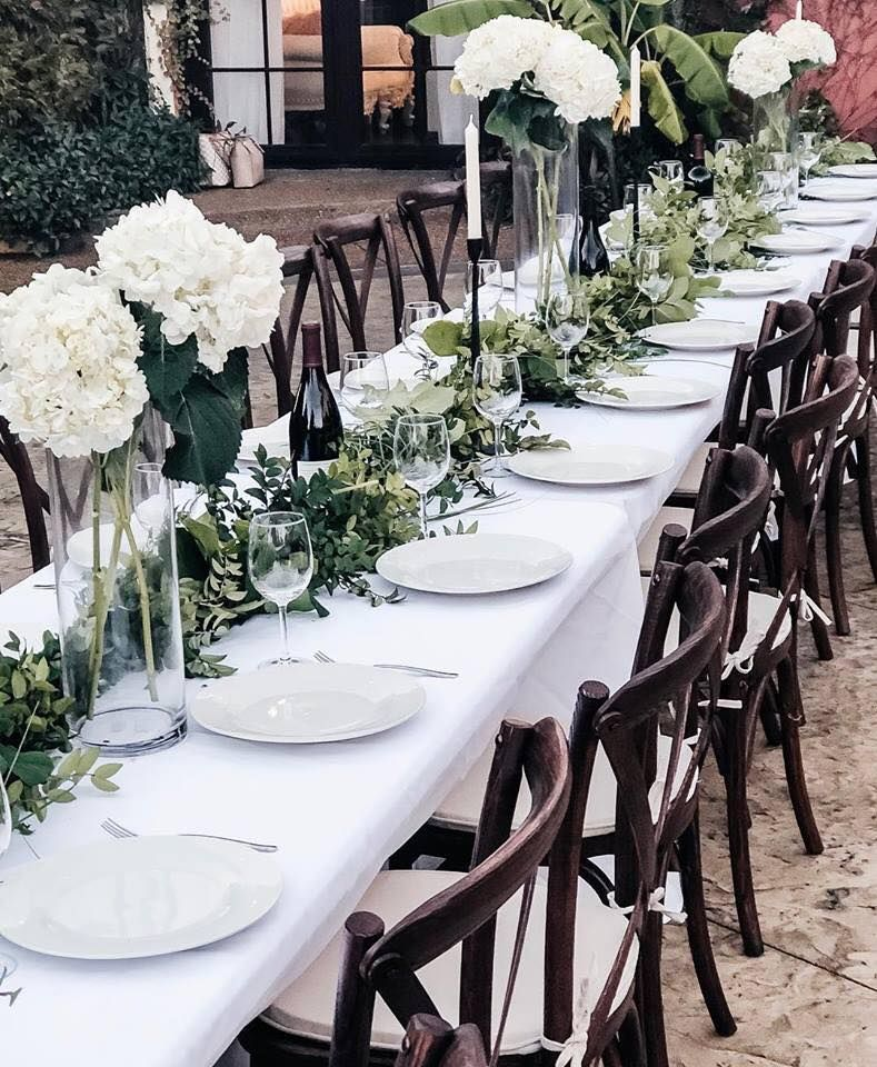 Beautiful Wedding Rehearsal Dinner Table Set Up In This Mediterranean Tuscan Style Courtyard G Dinner Table Setting Dinner Table Set Up Spanish Style Weddings