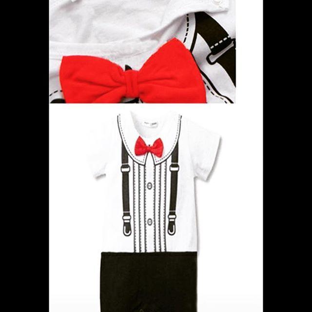 Gentleboys I onesie $9.99 each #boysfashion #bowtiefashion #onesiefashion #elegant #tuxedo