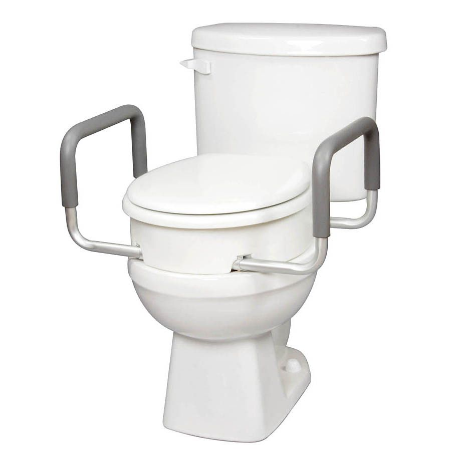 Carex Toilet Seat Elevator With Arms For Standard Toilets Toilet