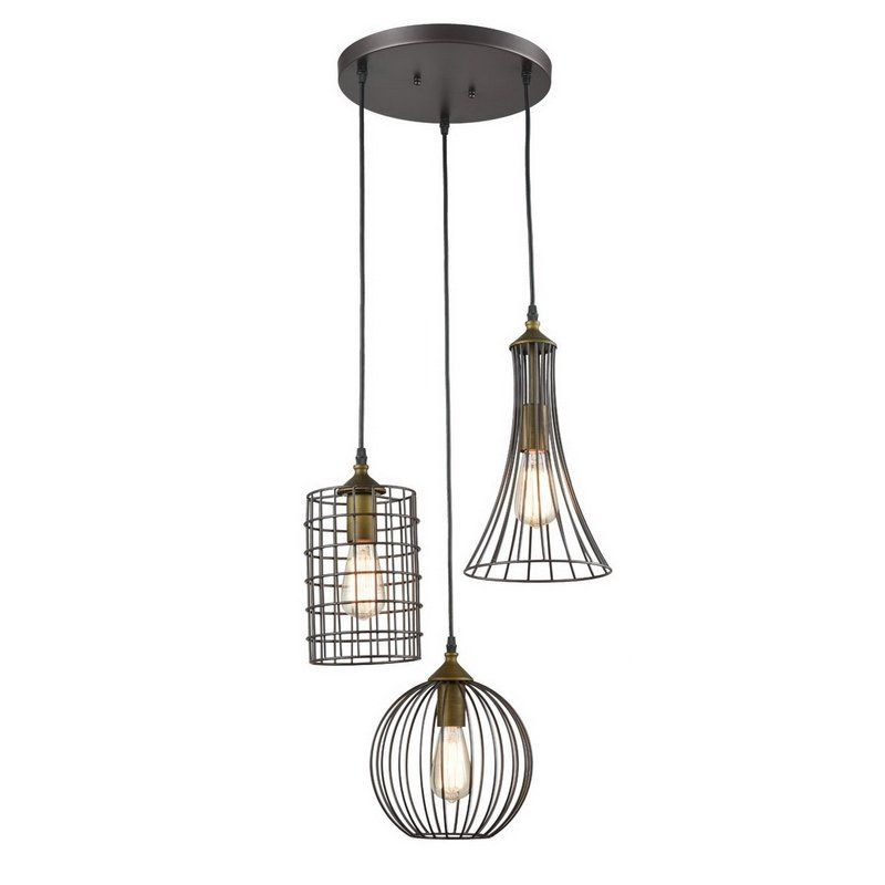 Tarsha 3 Light Cluster Geometric Pendant Simple Chandelier