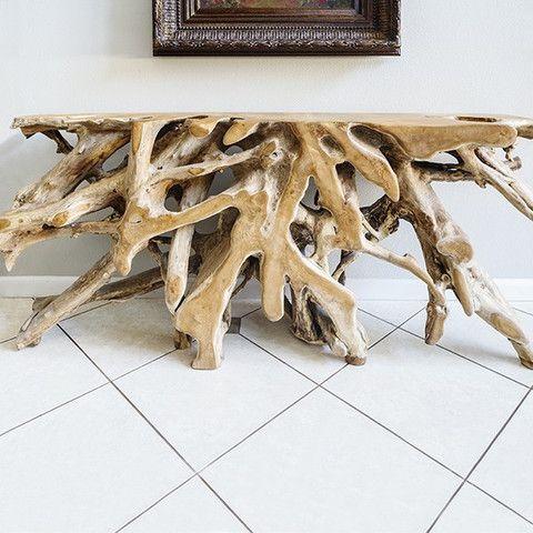 Driftwood Decor Teak Root Console Driftwood Furniture Driftwood Decor