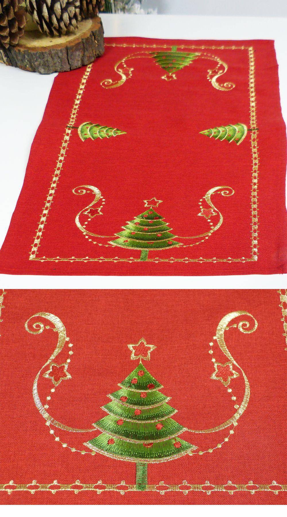 Bieznik Czerwony 35x70 Cm Swieta Boze Narodzenie 8605094754 Oficjalne Archiwum Allegro Christmas Tree Skirt Holiday Decor Christmas Tree