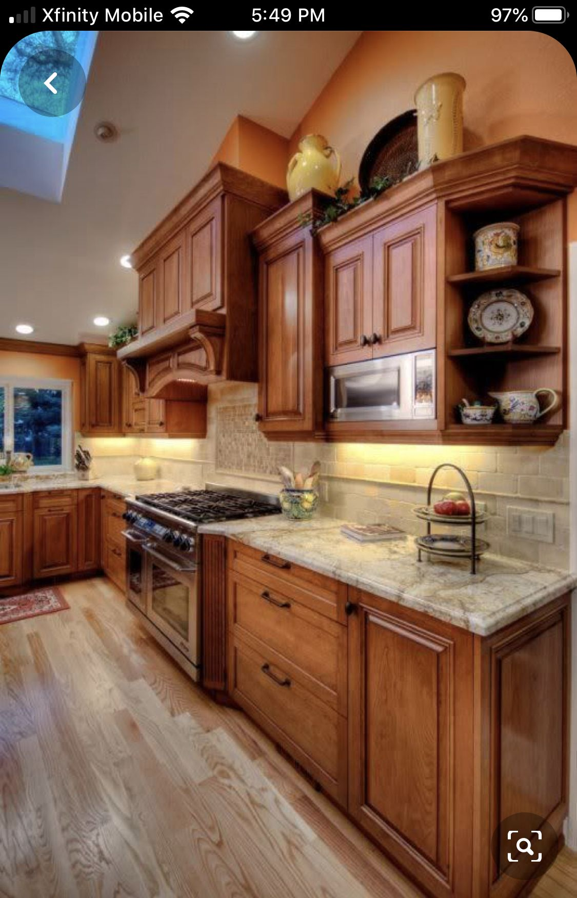 Pin by Norma Scacciante on Kitchen cabinets   Cherry cabinets ...